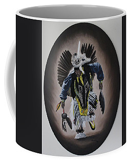 Coffee Mug featuring the painting Dancing In The Spirit by Michael  TMAD Finney