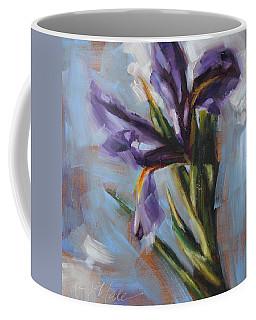 Dancing Iris Coffee Mug by Tracy Male