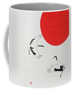 Dancing Japanese Cranes Coffee Mug