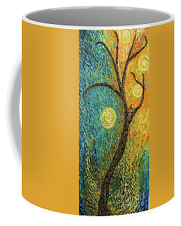 Coffee Mug featuring the painting Dancing Leves by Jane Chesnut