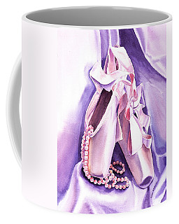 Dancing Pearls Ballet Slippers  Coffee Mug