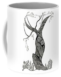 Coffee Mug featuring the drawing Dancing Tree by Barbara McConoughey