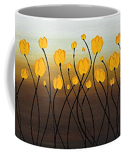 Coffee Mug featuring the painting Dancing Tulips by Carmen Guedez