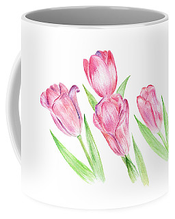 Dancing Tulips Coffee Mug by Elizabeth Lock