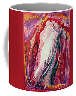 Coffee Mug featuring the painting Dancing Under The Moon by Diane Pape