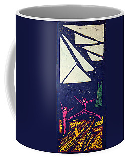 Coffee Mug featuring the mixed media Dancing Under The Starry Skies by J R Seymour
