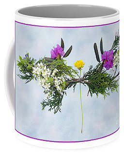 Dandelion Balancing Act With Blue Background Coffee Mug