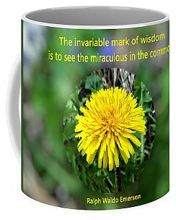 Dandelion With Quote Coffee Mug