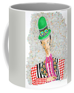 Dandy In Derby -- The Original -- Colorful Whimsical Man In Derby With Cigar Coffee Mug