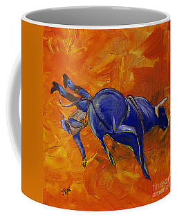 Coffee Mug featuring the painting Danny At The Rodeo by Janice Rae Pariza