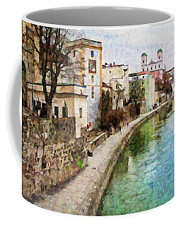 Danube River At Passau, Germany Coffee Mug