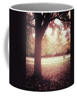 Dark And Hazy Autumn Landscape Coffee Mug
