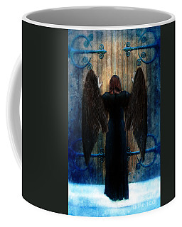 Dark Angel At Church Doors Coffee Mug