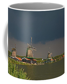 Dark Clouds Above Zaanse Schans Coffee Mug