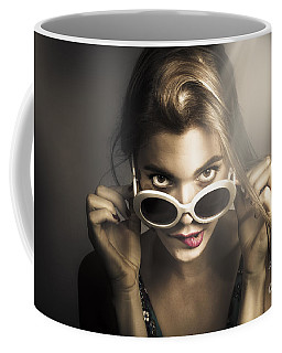Dark Fashion Pinup Model Coffee Mug