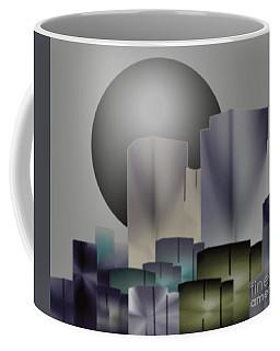 Coffee Mug featuring the digital art Dark Moon Over The City by John Krakora