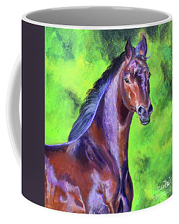 Dark Red Bay Horse Coffee Mug