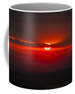 Dark Red Sun In Vogelsberg Coffee Mug