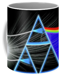 Coffee Mug featuring the digital art Dark Side Of The Moon by Dan Sproul