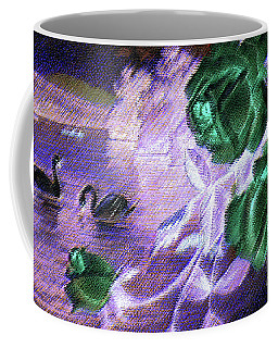 Dark Swan And Roses Coffee Mug