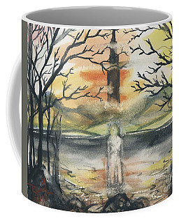 Coffee Mug featuring the painting Dark Tower by Reed Novotny