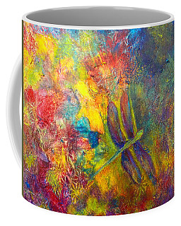 Coffee Mug featuring the painting Darling Dragonfly by Claire Bull