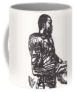 Coffee Mug featuring the drawing Darren Mcfadden 1 by Jeremiah Colley
