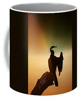 Darter Bird With Misty Sunrise Coffee Mug