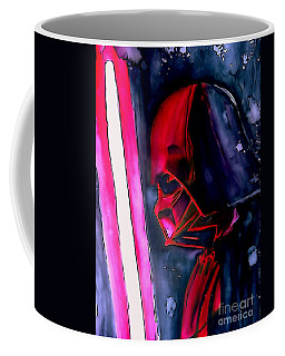 Coffee Mug featuring the drawing Darth Vader Illustration Edition by Justin Moore