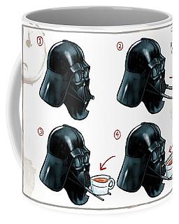 Coffee Mug featuring the digital art Darth Vader Tea Drinking Star Wars by Martin Davey