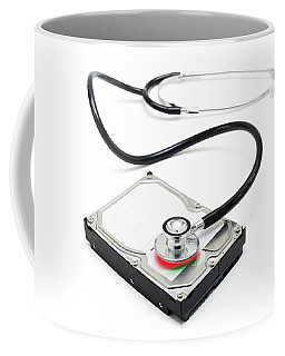 Data Recovery Stethoscope And Hard Drive Disc Coffee Mug