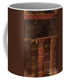 Coffee Mug featuring the photograph Dated Textbooks by Jorgo Photography - Wall Art Gallery