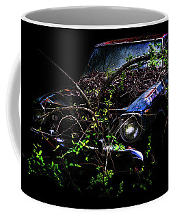 Coffee Mug featuring the photograph Datsun Treehouse by Glenda Wright