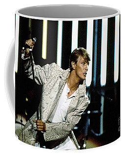 Coffee Mug featuring the photograph David Bowie Action Man by Sue Halstenberg