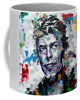Coffee Mug featuring the painting David Bowie II by Richard Day
