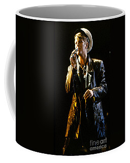 Coffee Mug featuring the photograph David Bowie Sailor by Sue Halstenberg