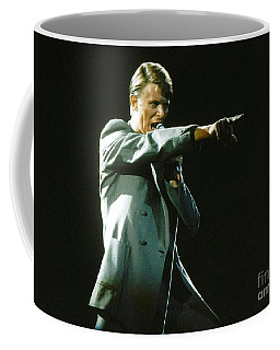 Coffee Mug featuring the photograph David Bowie The Point by Sue Halstenberg
