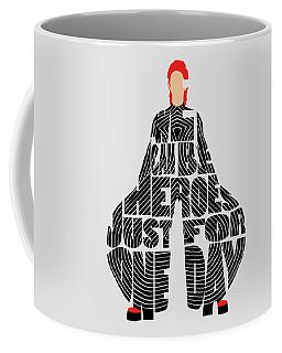David Bowie Typography Art Coffee Mug