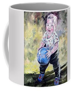 David With His Blue Ball Coffee Mug