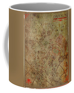 Davidson College Map Coffee Mug