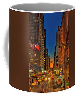 Coffee Mug featuring the photograph Dawn At 42nd Street Nyc by Susan Candelario