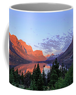 Dawn At Beautiful St. Mary Lake Coffee Mug