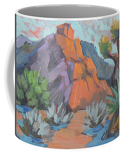 Coffee Mug featuring the painting Dawn At Joshua Tree by Diane McClary