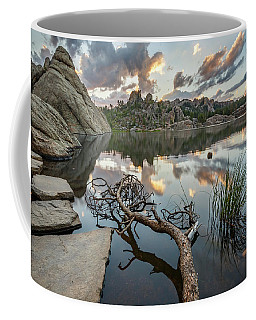 Coffee Mug featuring the photograph Dawn At Sylvan Lake by Adam Romanowicz