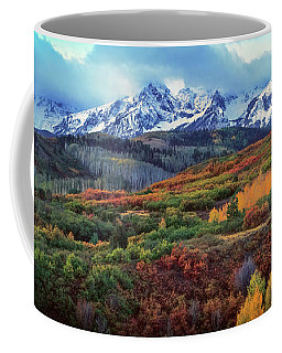 Dawn At The Dallas Divide Panoramic Coffee Mug
