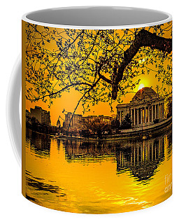 Coffee Mug featuring the photograph Dawn At The Jefferson Memorial  by Nick Zelinsky