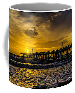 Dawn At The Virginia Pier Coffee Mug