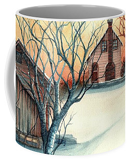 Dawn Has Spoken - Farmhouse Sunrise Coffee Mug by Janine Riley