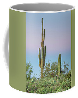 Dawn Of Saguaros Coffee Mug