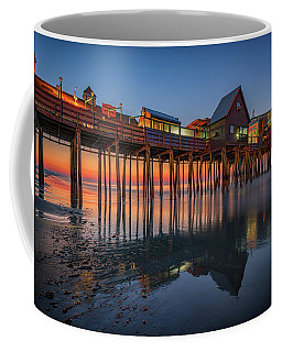 Coffee Mug featuring the photograph Dawn On Old Orchard Beach by Rick Berk